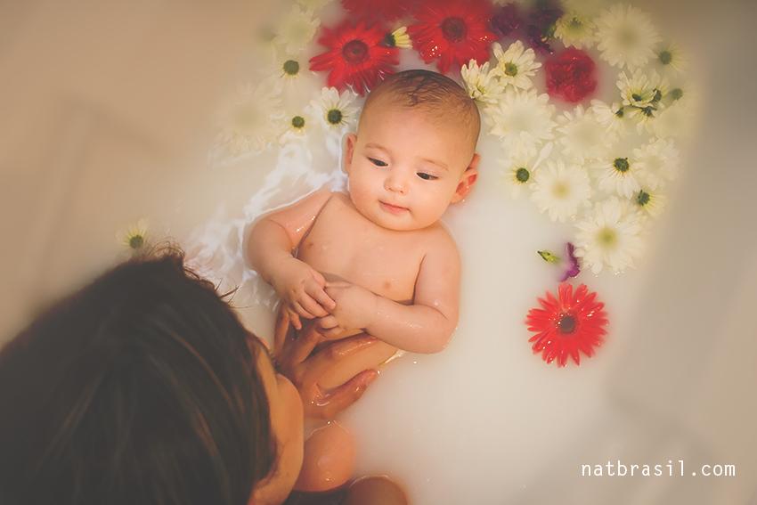 fotografia ensaio familia bebê mãeefilho banheira florianopolis natbrasil