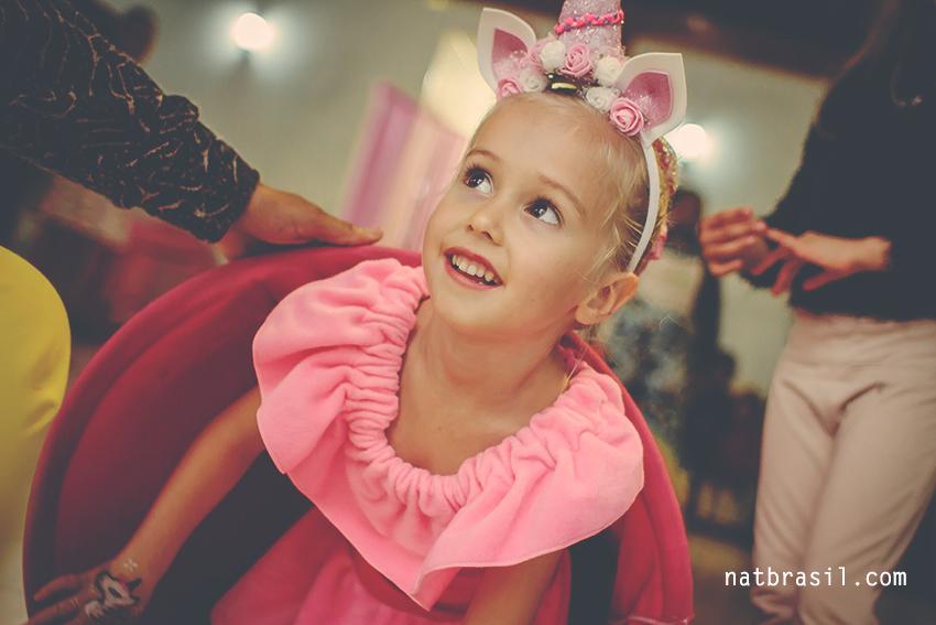 fotografia aniversário infantil 5anos unicornio rosa menina florianopolis natbrasil