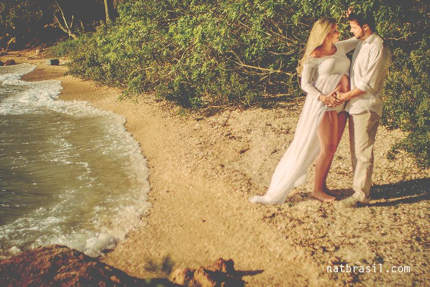 ensaio fotografia gestante gestação 8meses mãedemenina pontadosambaqui praia florianopolis natbrasil